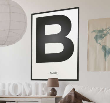 A wall sticker with the letter B from the alphabet, beautiful decoration for the nursery.