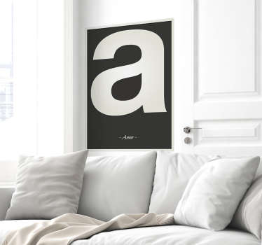 A wall sticker with the letter A from the alphabet, beautiful decoration for the nursery.