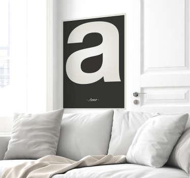 Autocolante decorativo letra personalizável