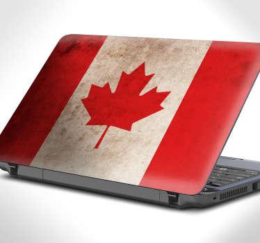 Sticker ordinateur drapeau Canadien