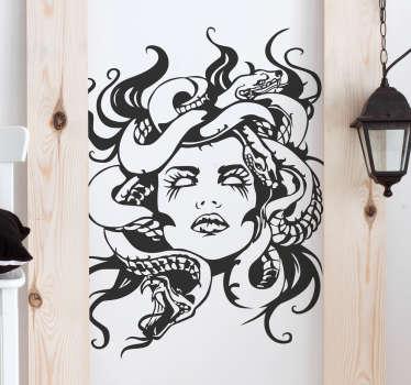 Sticker mythologie visage gorgone
