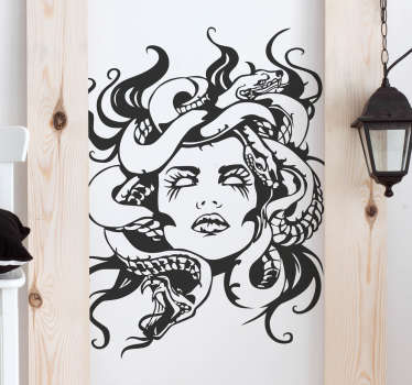Vinilo decorativo retrato gorgona