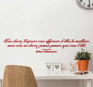 Sticker citation Gilles Villeneuve