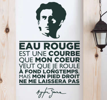 Sticker Citation Eau Rouge Senna