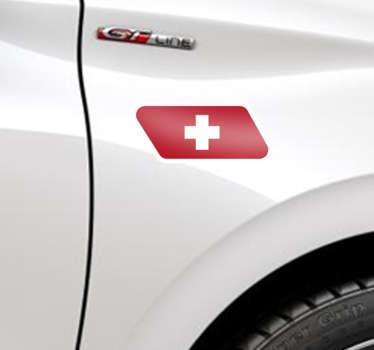 Zeigen Sie mit einem fantastischenAutoaufkleberderSchweizer FlaggeIhre Liebe zurSchweiz. Dekorieren und individualisieren Sie IhrAutooder IhrMotorradmit einem schönenStickerderSchweizer Fahne.