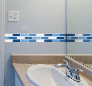 adesivo murale mantovana blu