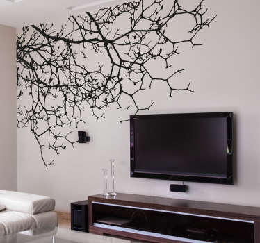 Vinilo decorativo salón perfil ramas