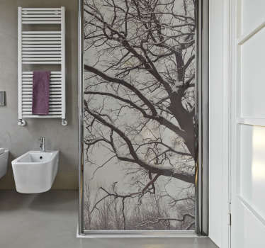 Shower Screen Decals - This unique design of tree branches will look amazing on your shower glass. Bring the forest to your bathroom.