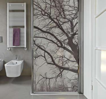 Träd grenar dusch skärm klistermärke