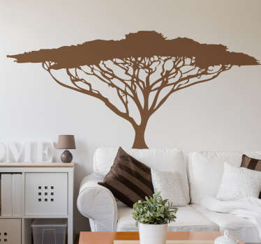 Give your home a more pleasant and lively environment with this wonderful tree sticker of excellent quality, which illustrates an African tree.