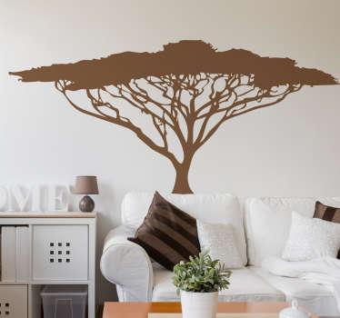 Naklejka na ścianę afrykańskie drzewo