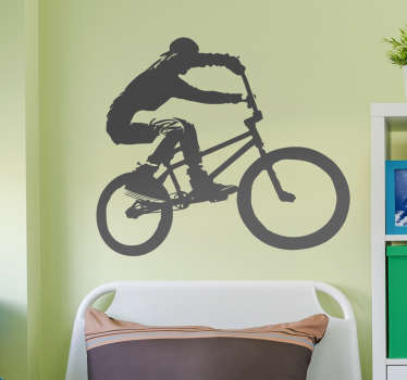 A great sticker showing a BMX biker in full flow! Perfect for all those BMX bikers out there! Free delivery over £45. Extremely long-lasting material.
