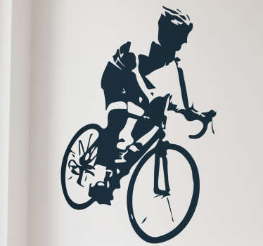 Great sticker depicting a road cyclist doing what he does best! Stickers from £1.99. Ideal for all future TdF winners! Anti-bubble vinyl.