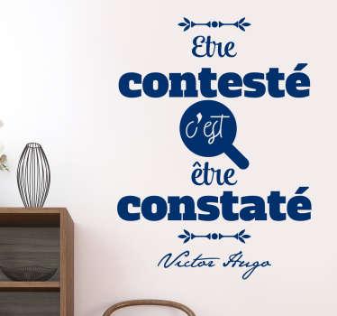 Sticker citation Victor Hugo contesté