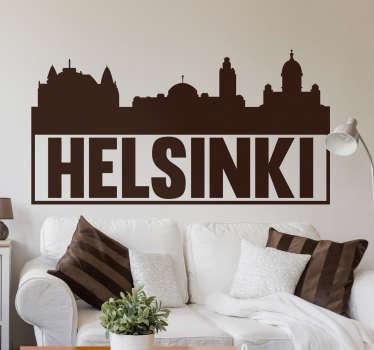 Vous avez visité la capitale Finlandaise et avez adoré ou adorerez la visiter ? Ce sticker des principaux monuments de la ville vous fera voyager.