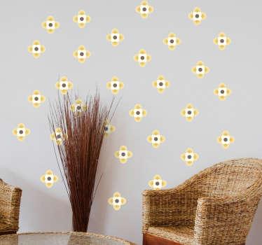 Lámina de adhesivos con 64 flores de color, ideales para decorar cualquier estancia de tu casa de una forma moderna y fresca.