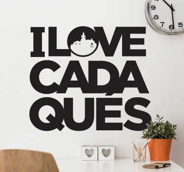 Vinilo I love Cadaqués