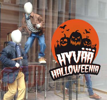 Hyvää Halloweenia Koristetarra