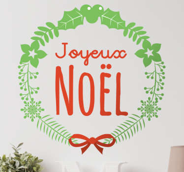 Sticker laurier Joyeux Noel