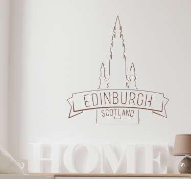 Vous êtes admiratif de la cathédrale d'Edinburgh? Ce sticker la représentant vous donnera la sensation de vous retrouver devant elle.