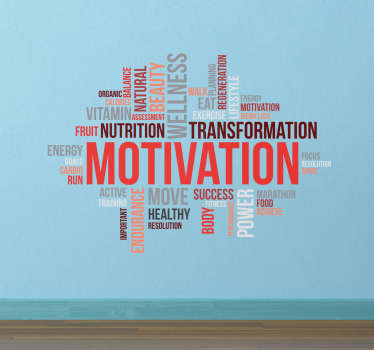 Sticker phrases motivation musculation