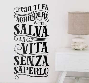 Adesivi murali frasi sorridere