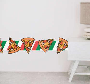 Autocolante decorativo mural pizza