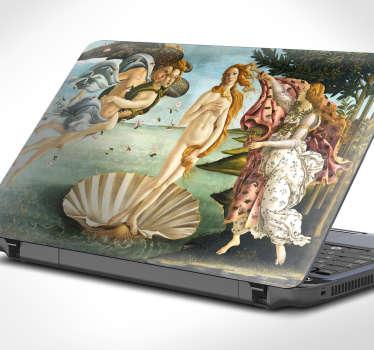 Dekorativní pc nálepka s botticelliho venus malování. Krásný a vysoce kvalitní nálepka na notebook se slavným obrazem!