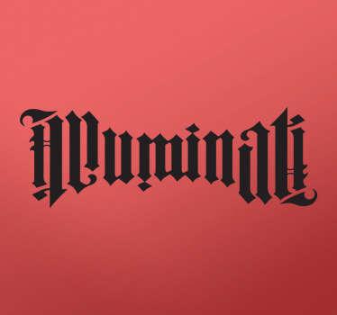 Muursticker tekst Illuminati