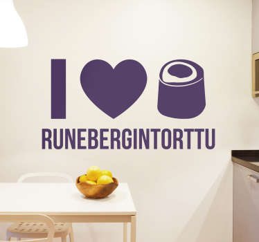 Tarra I love runebergintorttu