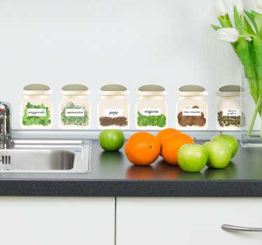 Adesivo per cucina piante aromatiche