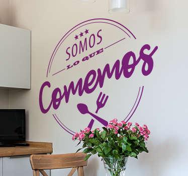 Vinilos decorativos originales ideales para decorar la cocina de tu casa o las paredes de un restaurante.