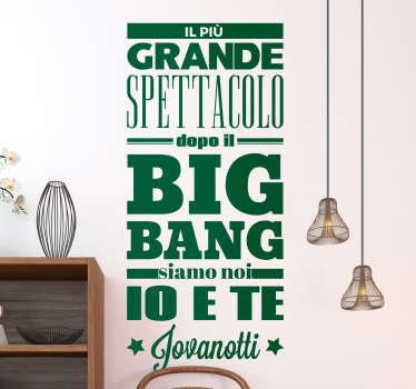 Adesivo Big Bang Jovanotti