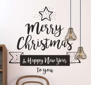 Decorative Christmas festival wall sticker designed with a simple Christmas text to decorate any space. It is available in different colours.