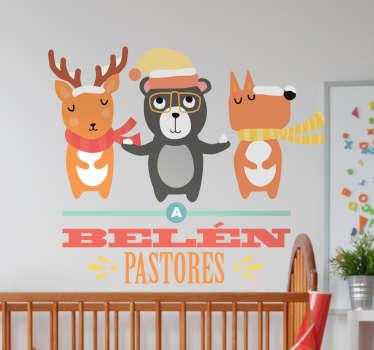 Vinilos murales para niños pequeños con una de los villancicos más populares de las fiestas navideñas.