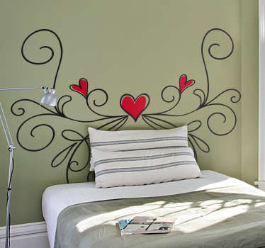 Buy our high quality saint valentine's day love wall sticker to decorate a bedroom space . We have the design in any size required.