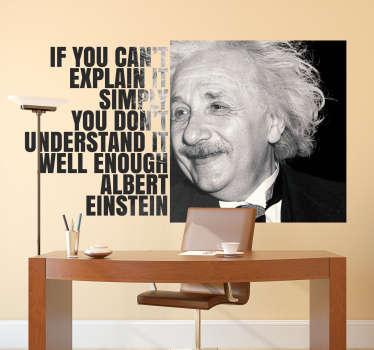Autocolante decorativo citação Einstein
