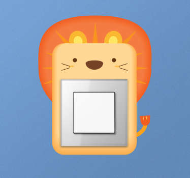 Muursticker lichtschakelaar leeuw