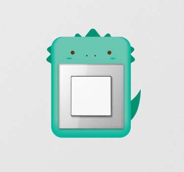 Sticker pour interrupteur petit dinosaure