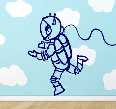 Autocolante parede infantil astronauta