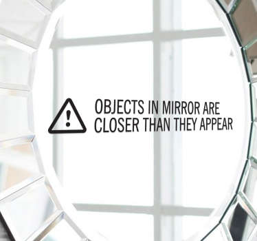 Sticker pour miroir texte anglais
