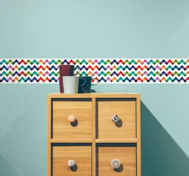Sticker frise courbes couleurs