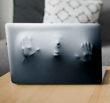 Personalise your laptop with this mysterious image of a figure reaching from beneath the surface. High quality anti-bubble vinyl.