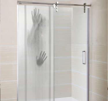 Sticker paroi de douche figure encastrée