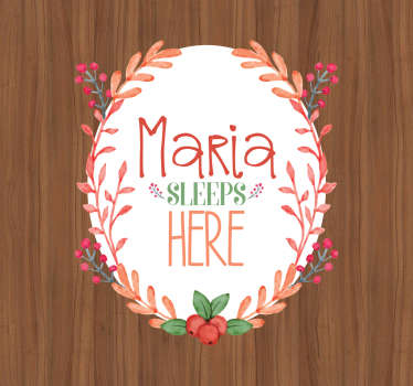With this door sticker you can label your room and let everybody know who sleeps in it. Choose the name that should be on your door to your bedroom!