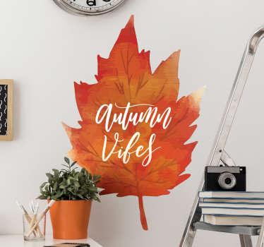 Aucolante decorativo folha de outono