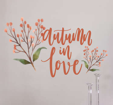 Come take a look at our beautiful ornamental wall decal that has orange shades on it and flowers. It is extremely long-lasting.