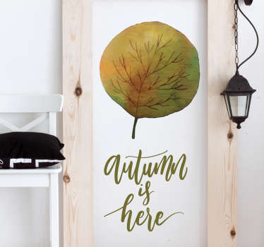 Check out our gorgeous flower wall sticker that says autumn is here. We have +10,000 satisfied customers on the website!