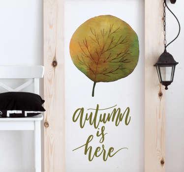 Sticker boom herfst autumn is here