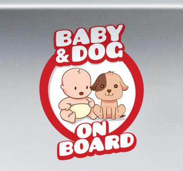 Autocolante baby dog a bordo